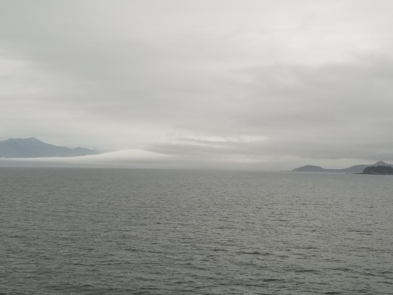 Water everywhere as we cruise toAlaska